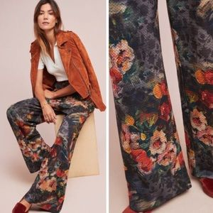 Eva Franco Anthropologie Simone Wide Leg Pants L
